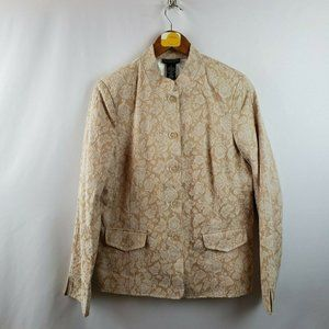 Dialogue Womens Blazer Jacket Size Small Floral